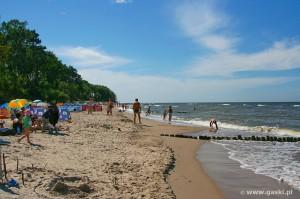 Gąski - widok na plażę